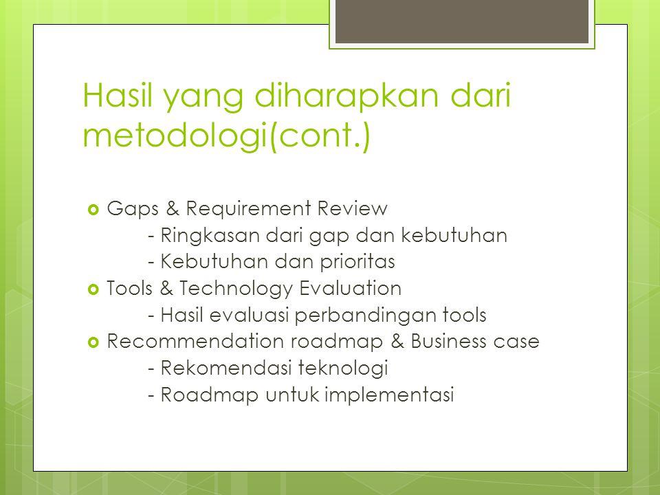 Hasil yang diharapkan dari metodologi(cont.)