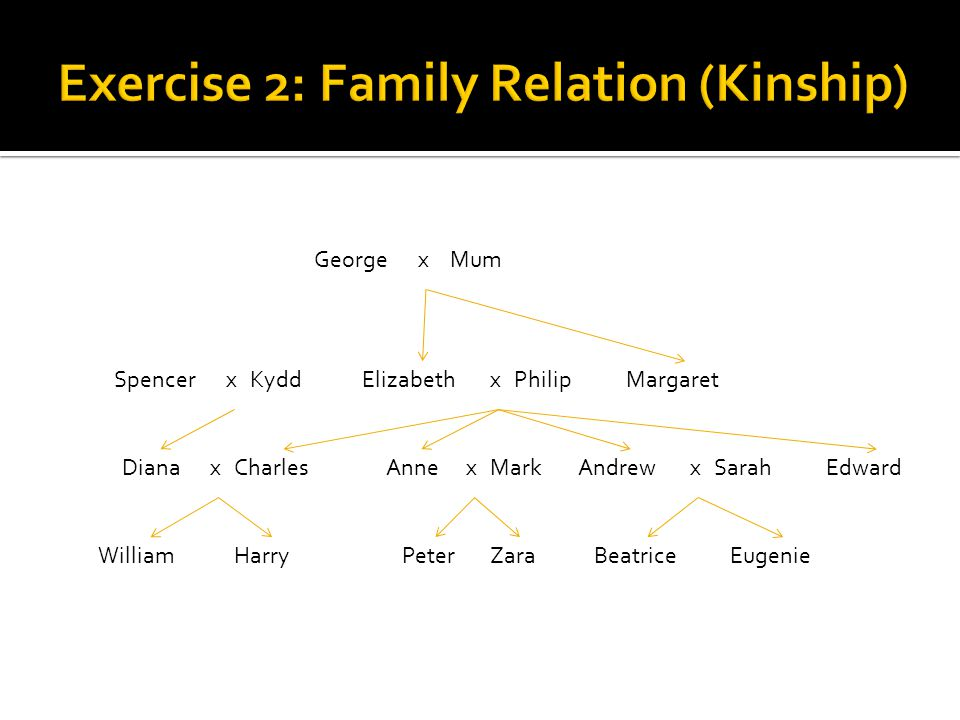 Exercise 2: Family Relation (Kinship)