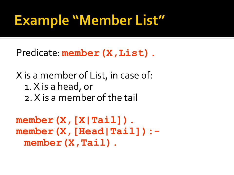 Example Member List