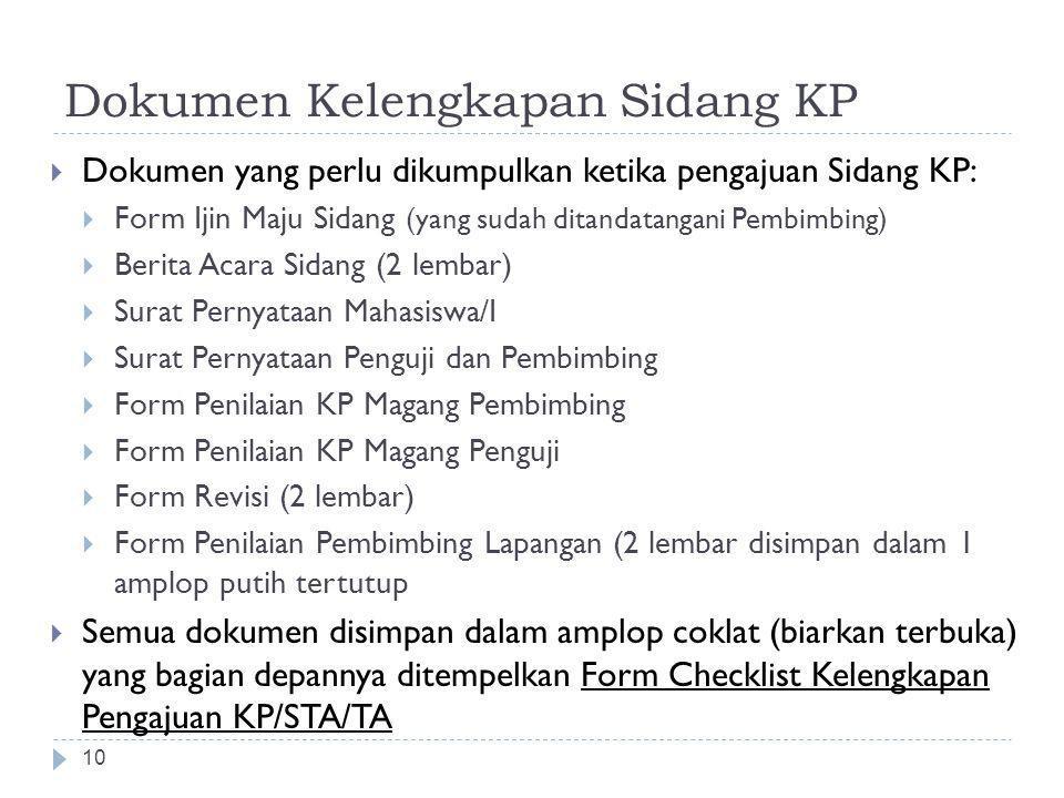 Dokumen Kelengkapan Sidang KP