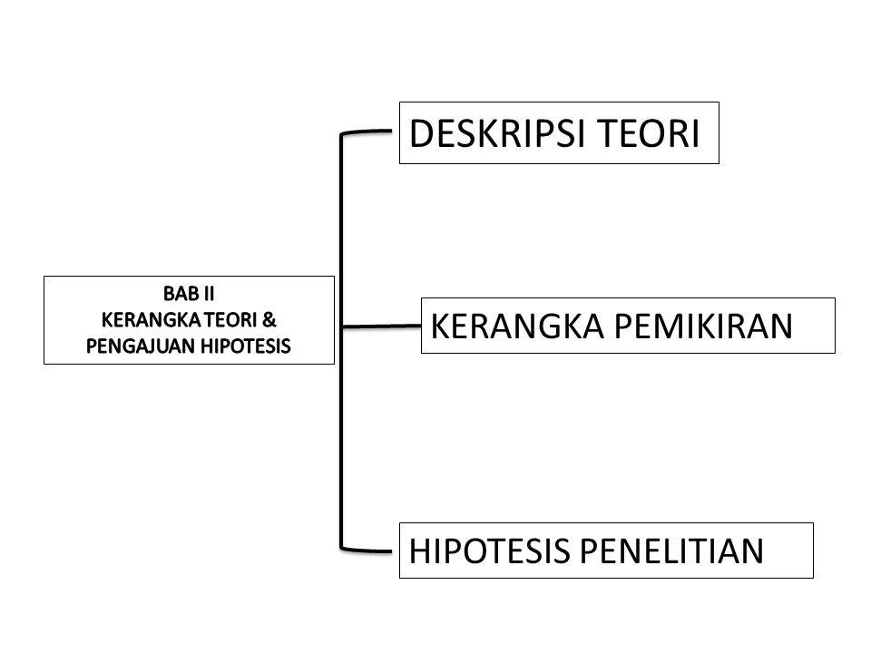 KERANGKA TEORI & PENGAJUAN HIPOTESIS