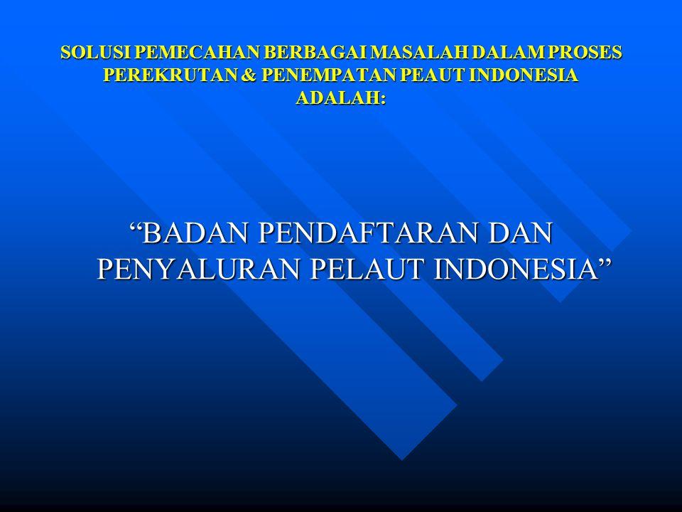 BADAN PENDAFTARAN DAN PENYALURAN PELAUT INDONESIA