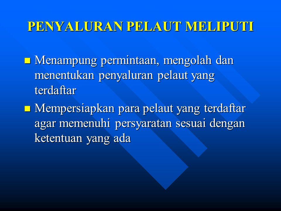 PENYALURAN PELAUT MELIPUTI