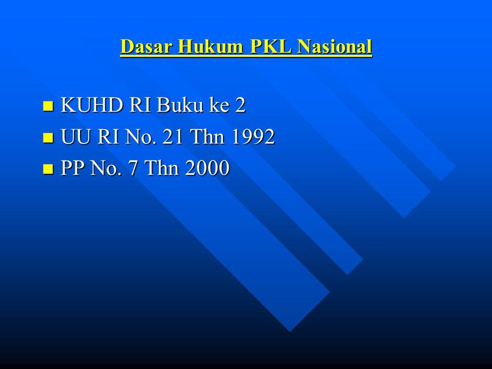 Dasar Hukum PKL Nasional