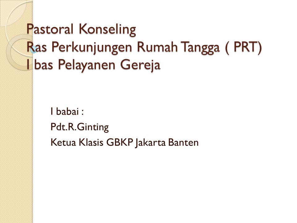 I babai : Pdt.R.Ginting Ketua Klasis GBKP Jakarta Banten