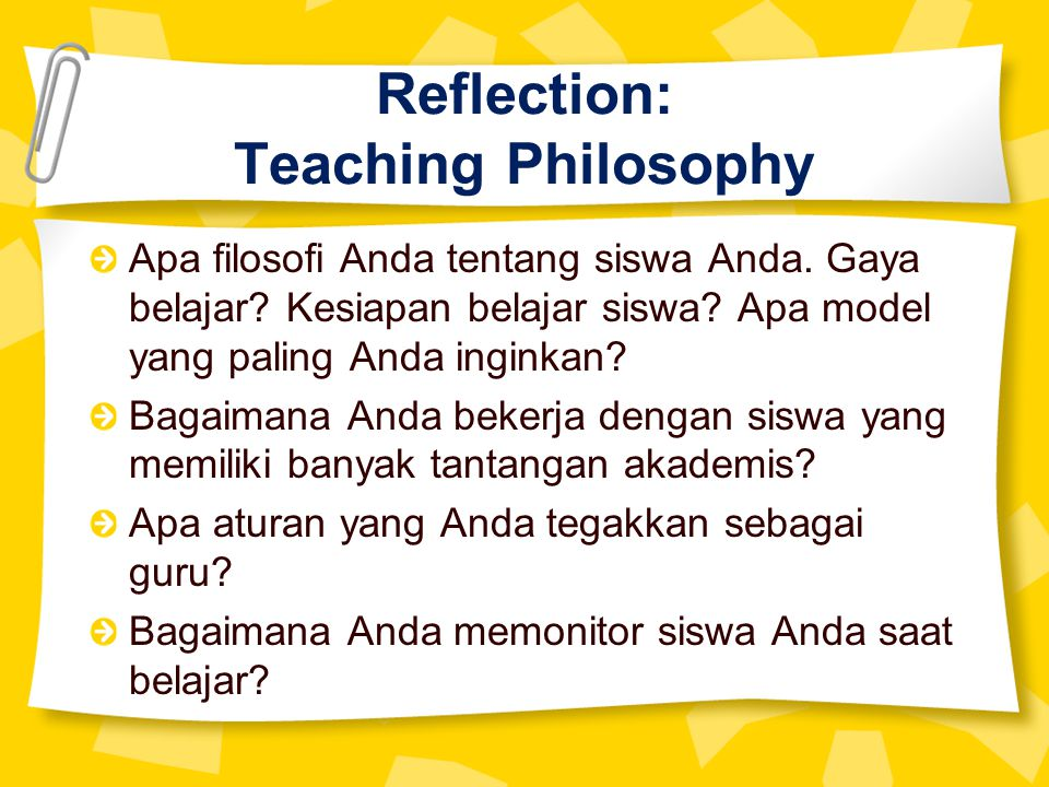 Reflection: Teaching Philosophy