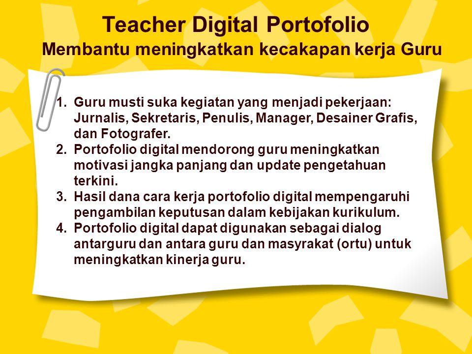 Teacher Digital Portofolio