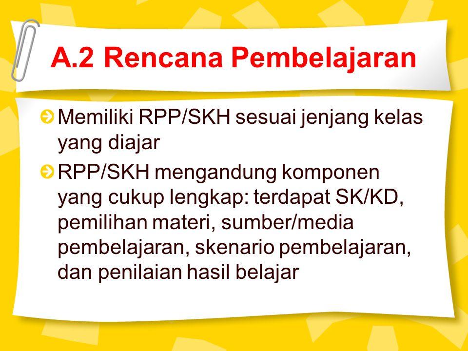 A.2 Rencana Pembelajaran