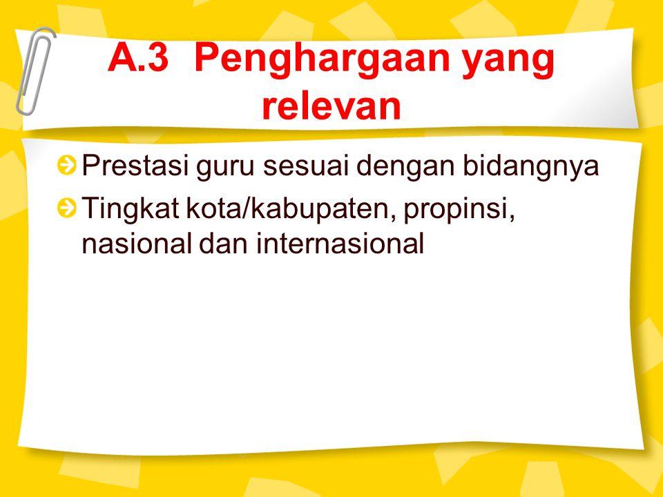 A.3 Penghargaan yang relevan