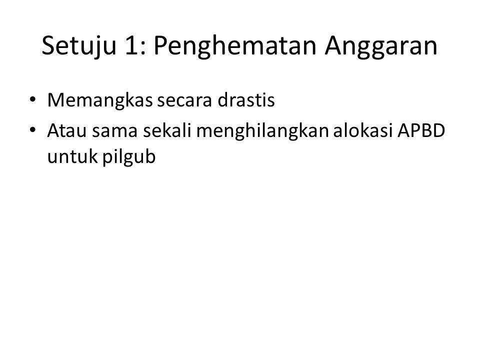 Setuju 1: Penghematan Anggaran