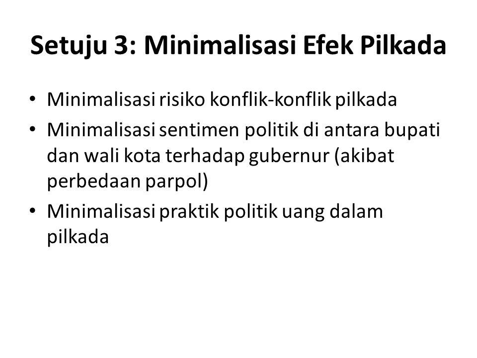 Setuju 3: Minimalisasi Efek Pilkada
