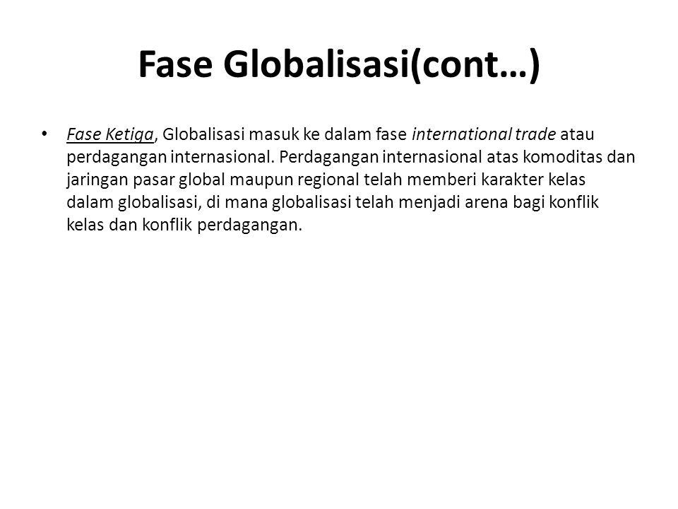 Fase Globalisasi(cont…)
