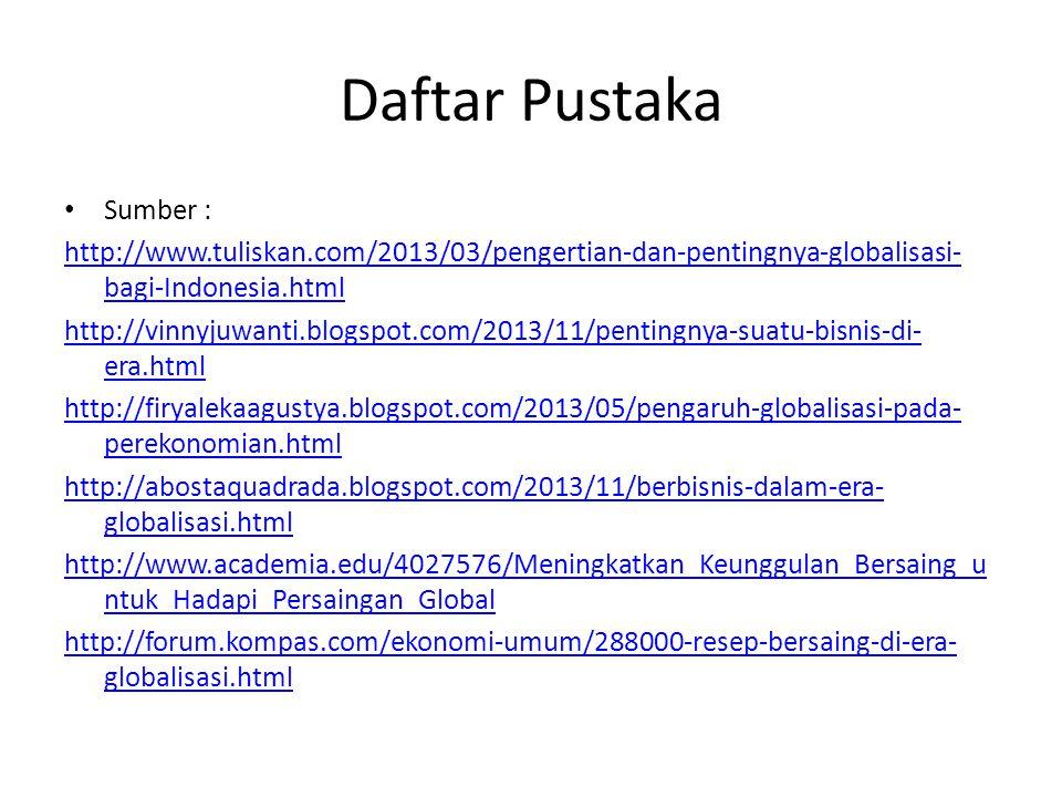 Daftar Pustaka Sumber :