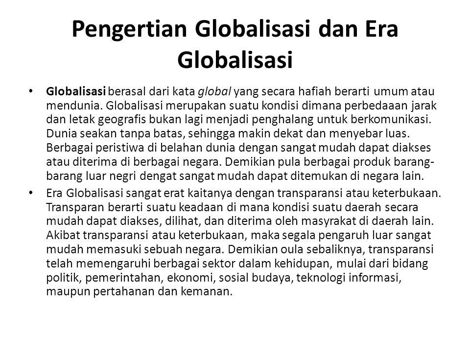 Pengertian Globalisasi dan Era Globalisasi