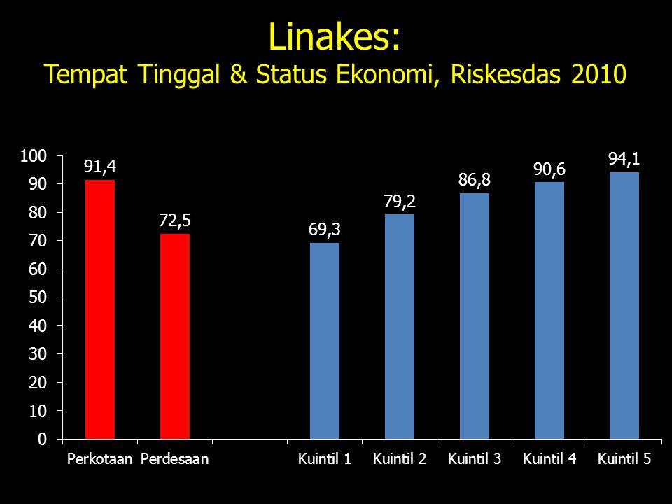 Linakes: Tempat Tinggal & Status Ekonomi, Riskesdas 2010