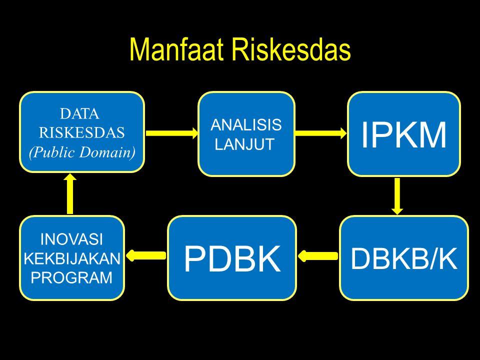 IPKM PDBK Manfaat Riskesdas DBKB/K DATA ANALISIS RISKESDAS LANJUT