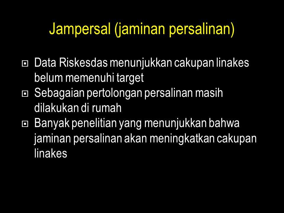 Jampersal (jaminan persalinan)