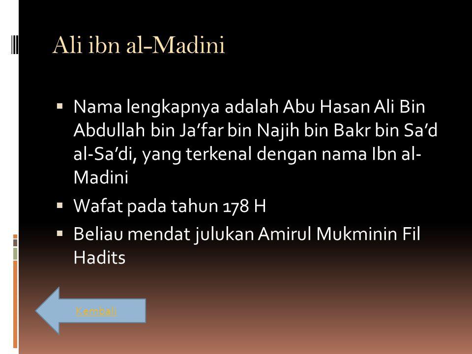 Ali ibn al-Madini