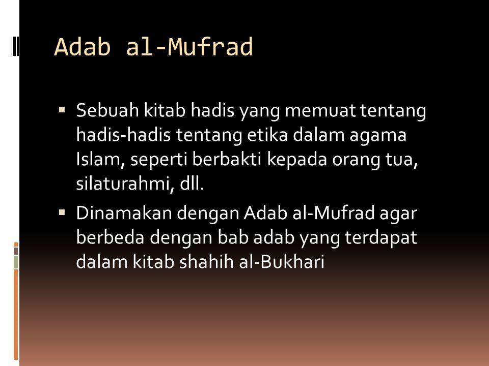 Adab al-Mufrad