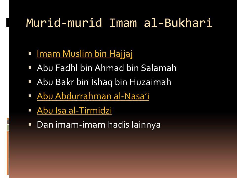 Murid-murid Imam al-Bukhari