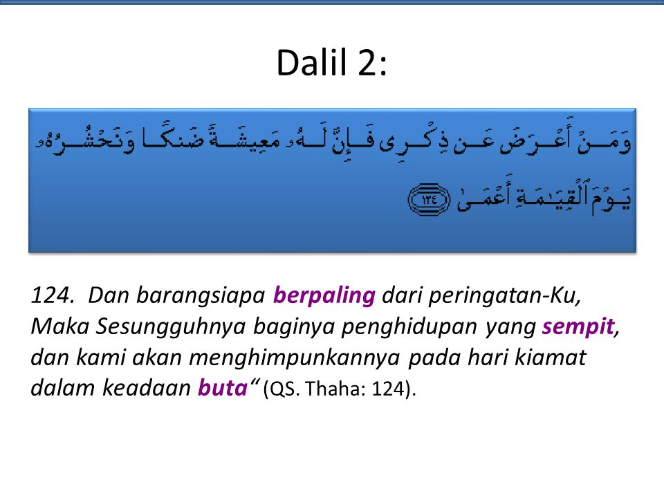 Dalil 2: