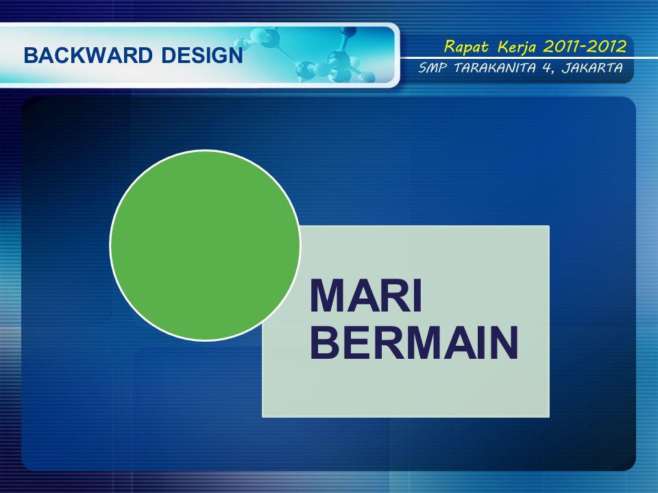 BACKWARD DESIGN MARI BERMAIN