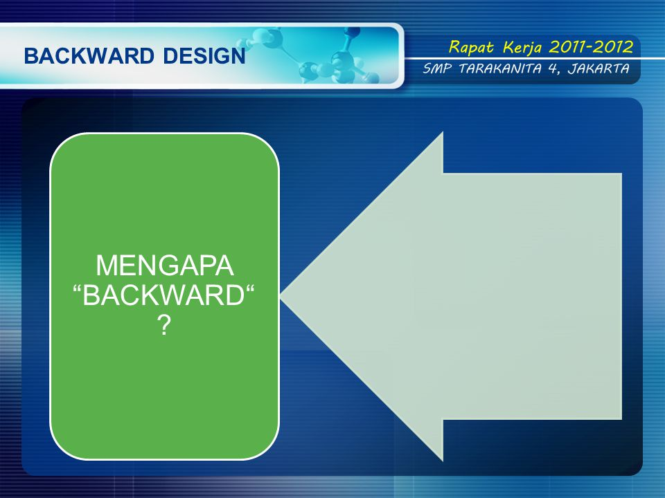 BACKWARD DESIGN MENGAPA BACKWARD
