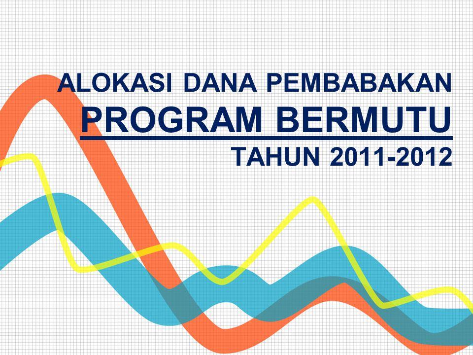 ALOKASI DANA PEMBABAKAN PROGRAM BERMUTU TAHUN 2011-2012