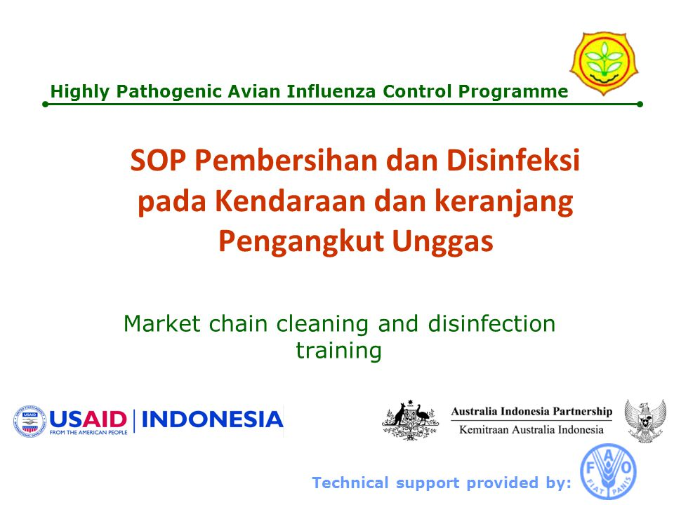 Market chain cleaning and disinfection training