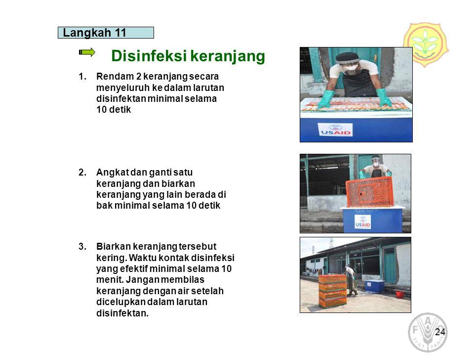 Disinfeksi keranjang Langkah 11