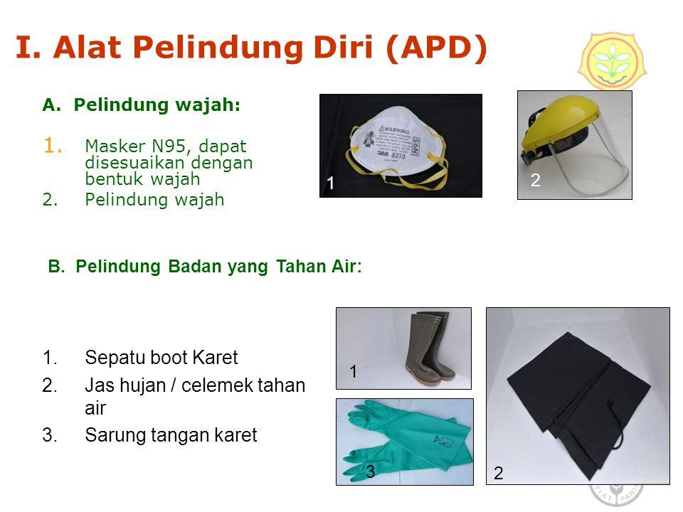I. Alat Pelindung Diri (APD)