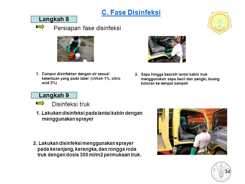 C. Fase Disinfeksi Langkah 8 Persiapan fase disinfeksi Langkah 9
