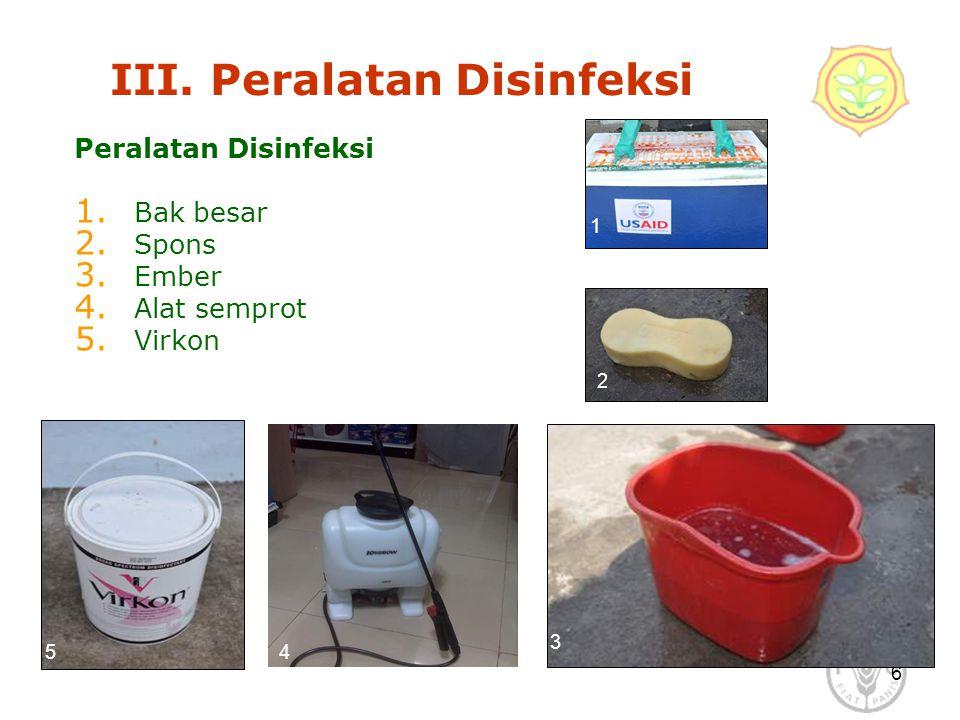 III. Peralatan Disinfeksi