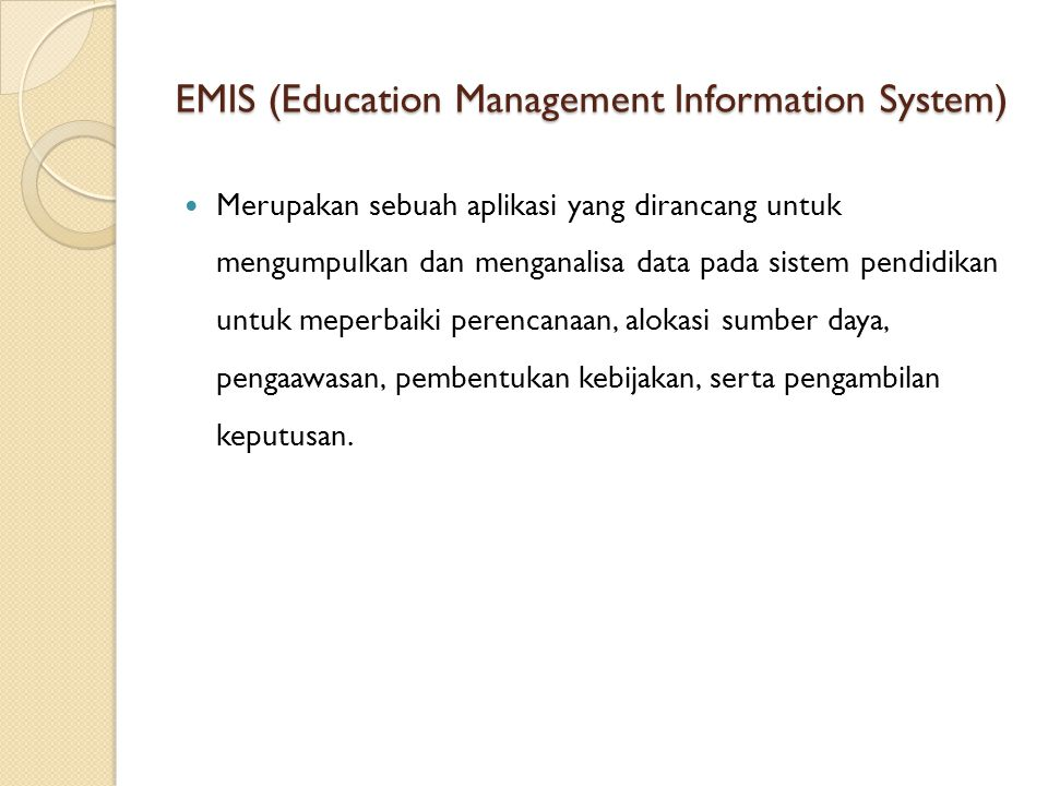 EMIS (Education Management Information System)