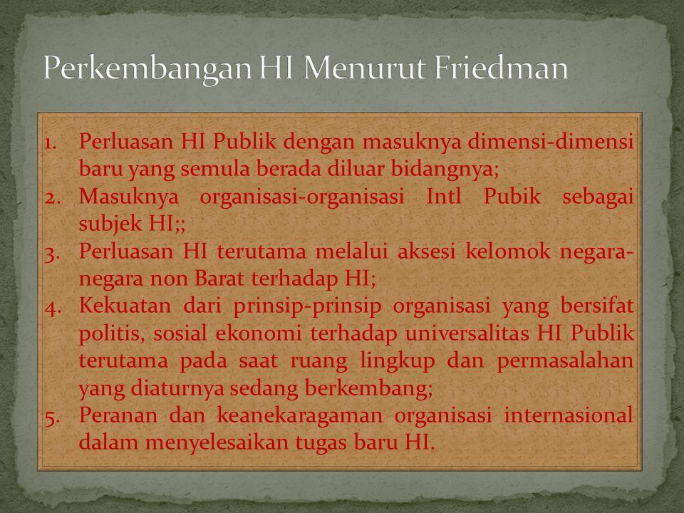 Perkembangan HI Menurut Friedman