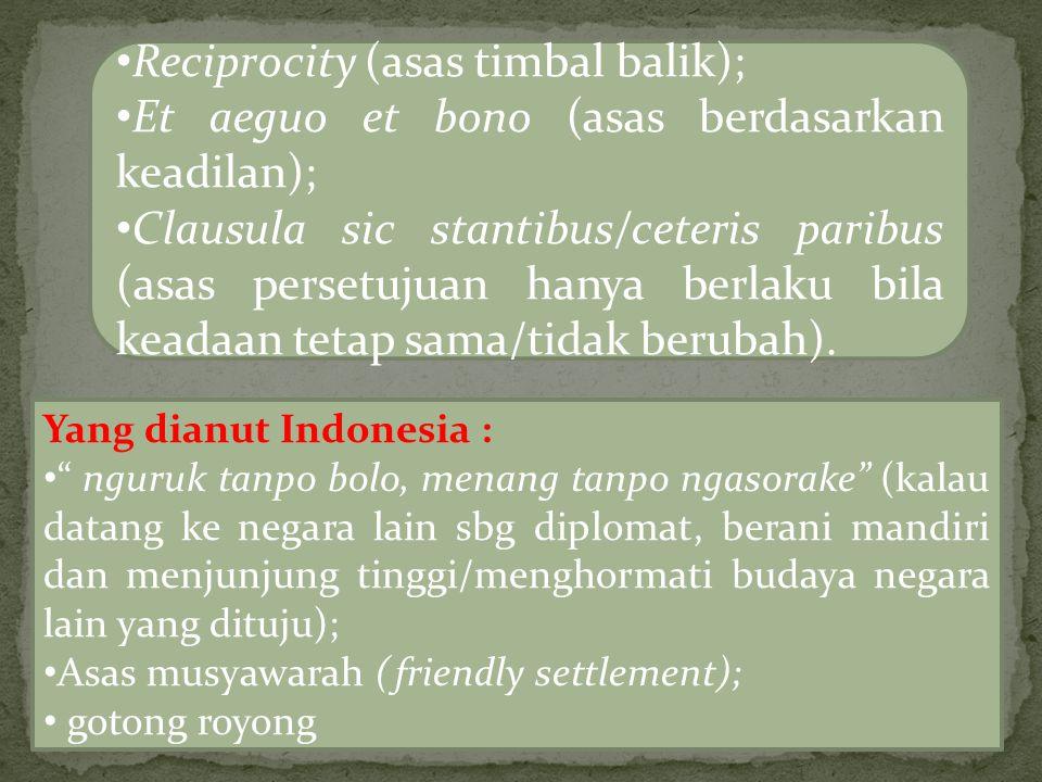 Reciprocity (asas timbal balik);