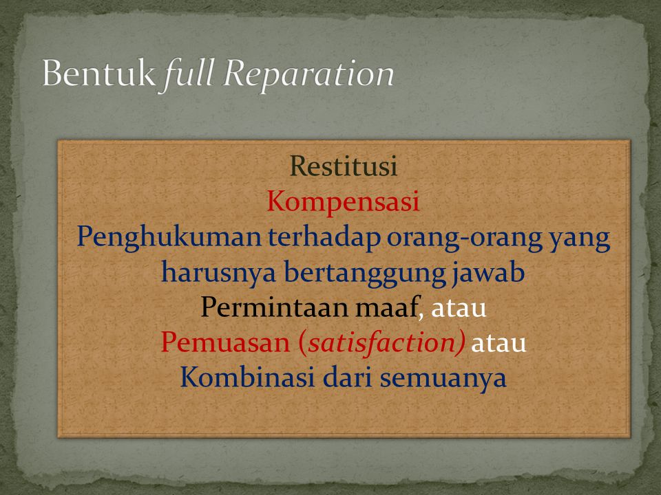 Bentuk full Reparation