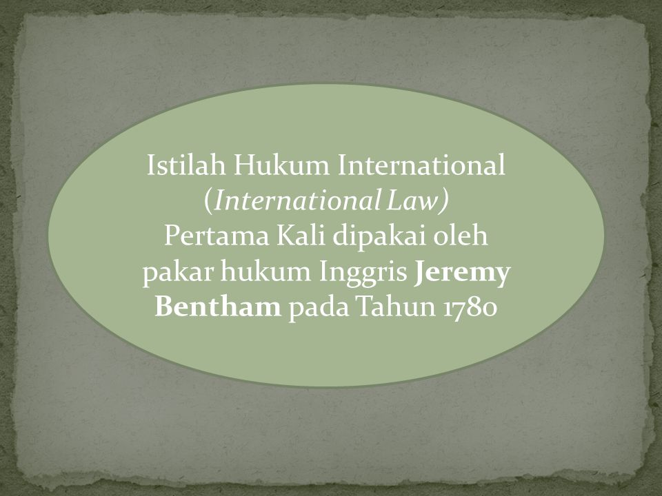 Istilah Hukum International (International Law)