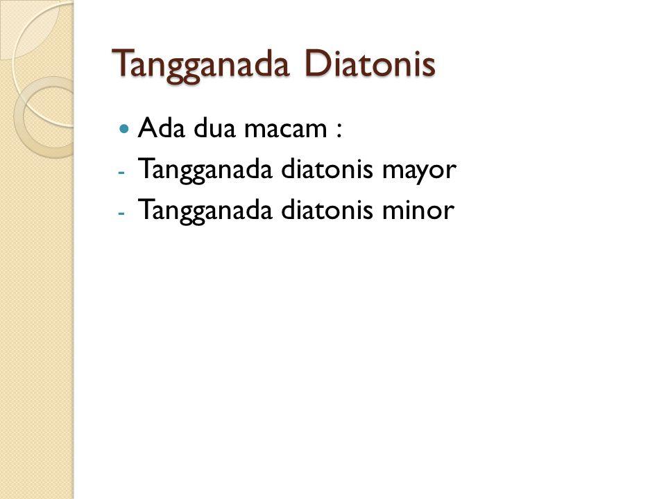 Tangganada Diatonis Ada dua macam : Tangganada diatonis mayor