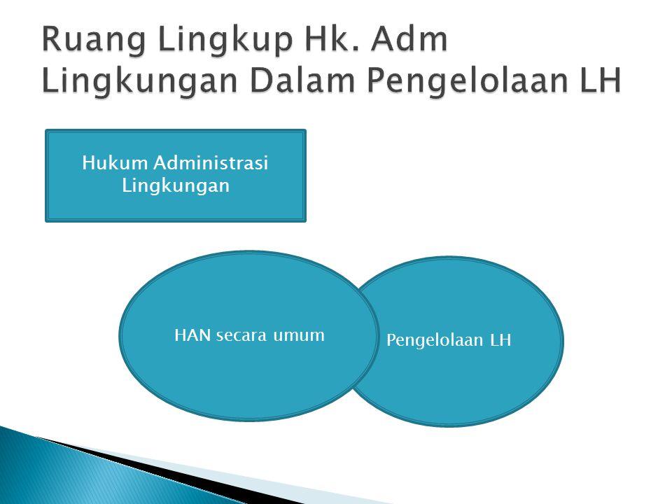 Ruang Lingkup Hk. Adm Lingkungan Dalam Pengelolaan LH