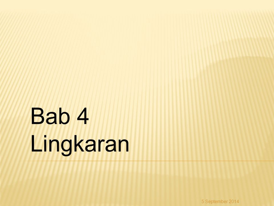 Bab 4 Lingkaran 6 April 2017