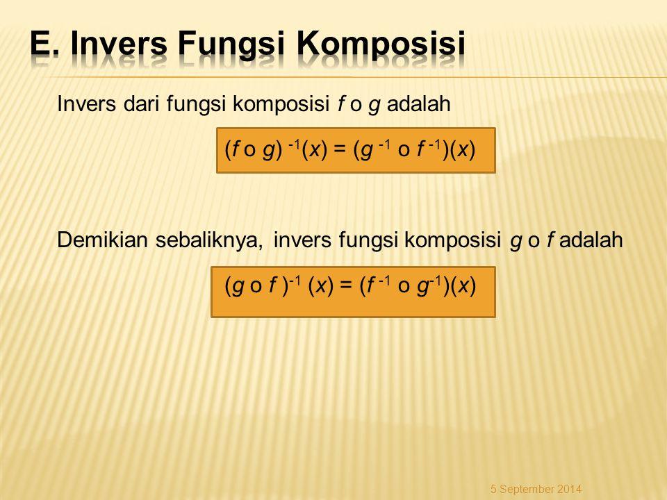 E. Invers Fungsi Komposisi