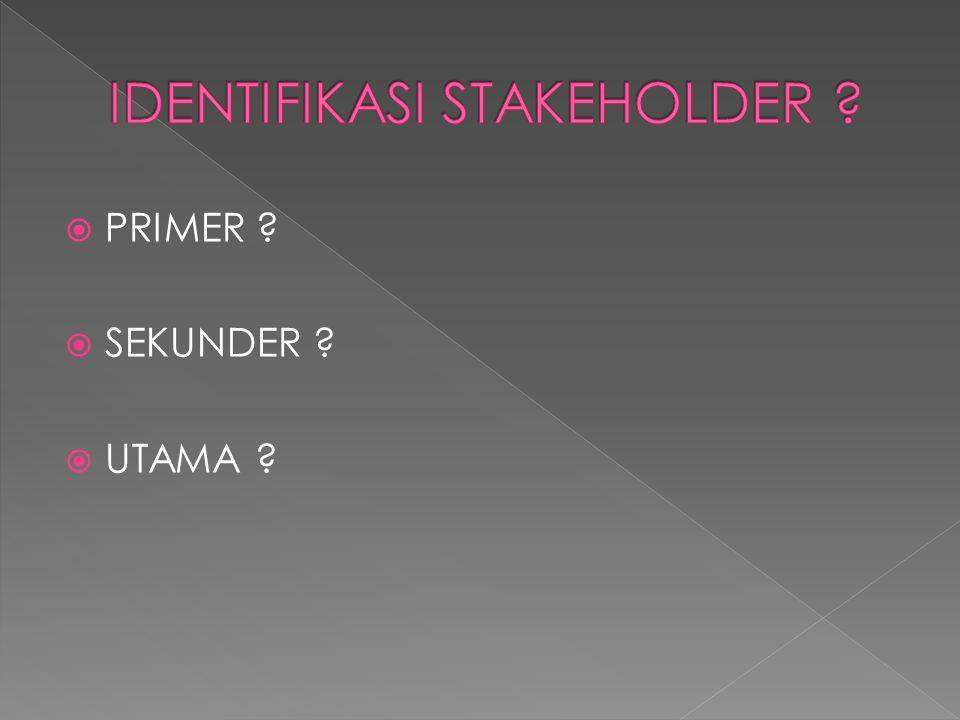 IDENTIFIKASI STAKEHOLDER