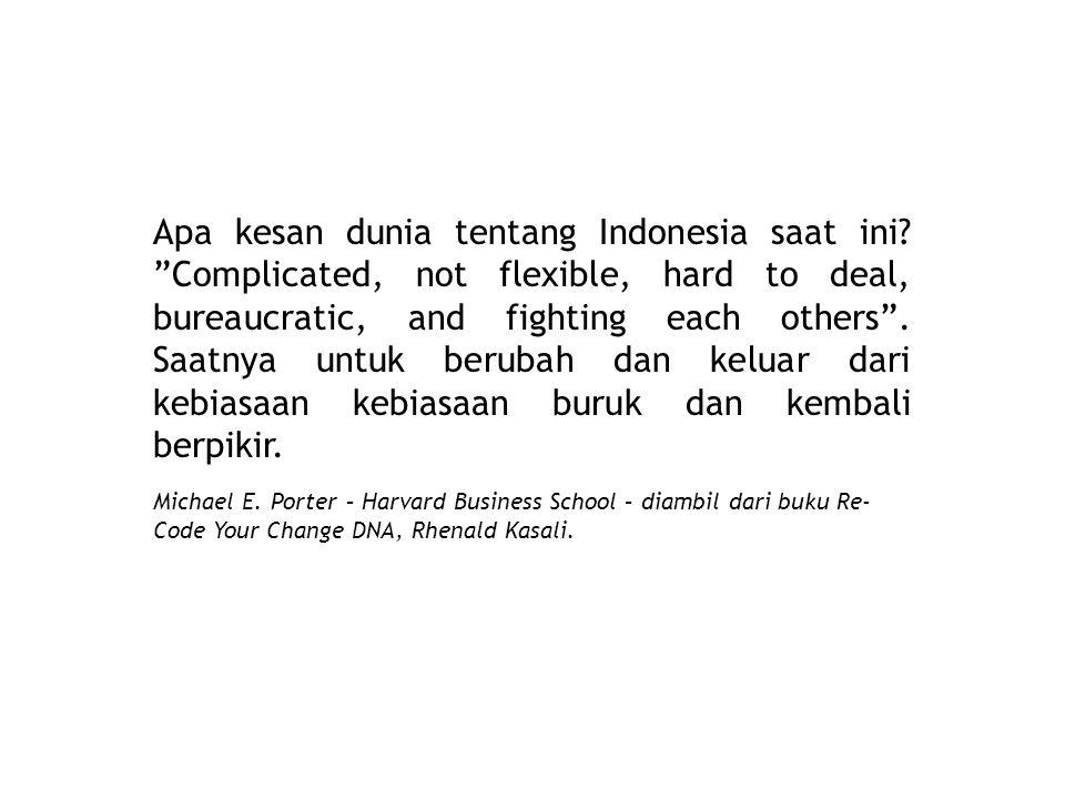 Apa kesan dunia tentang Indonesia saat ini