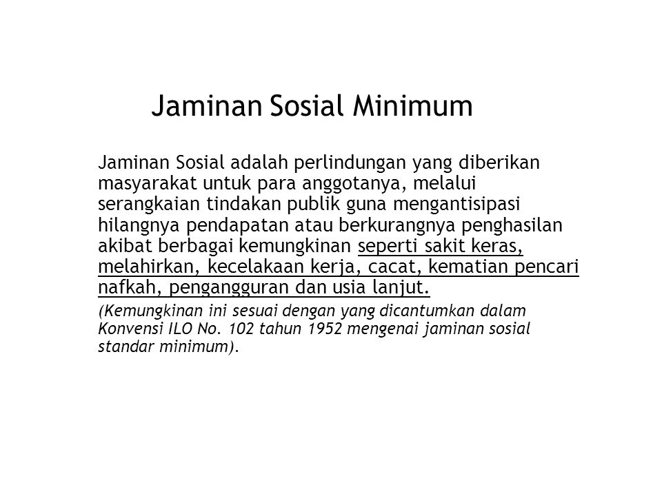 Jaminan Sosial Minimum