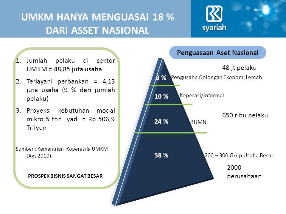 UMKM HANYA MENGUASAI 18 % DARI ASSET NASIONAL