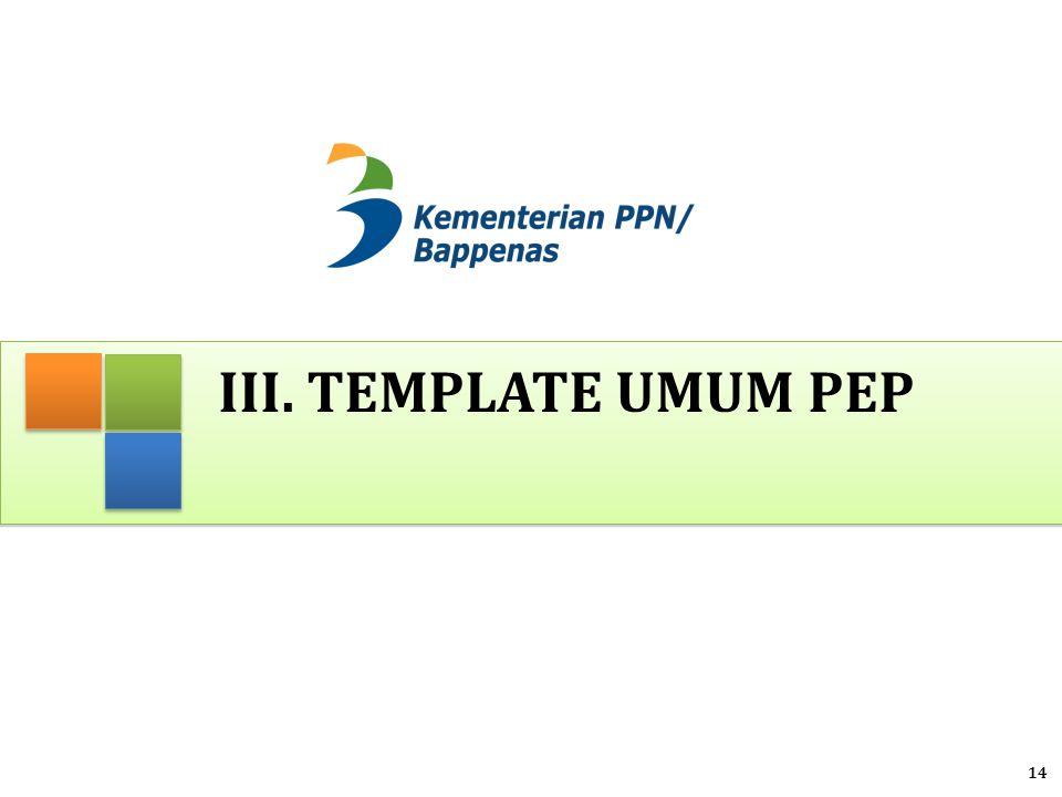 iii. Template umum pep