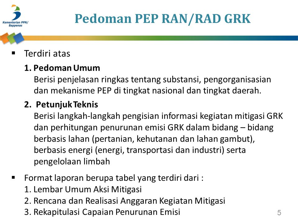 Pedoman PEP RAN/RAD GRK