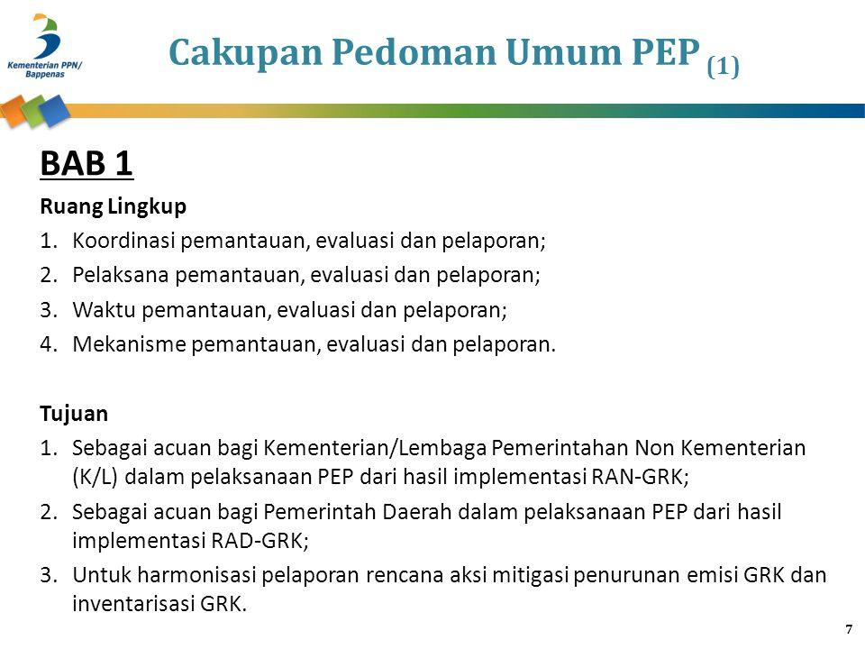 Cakupan Pedoman Umum PEP (1)