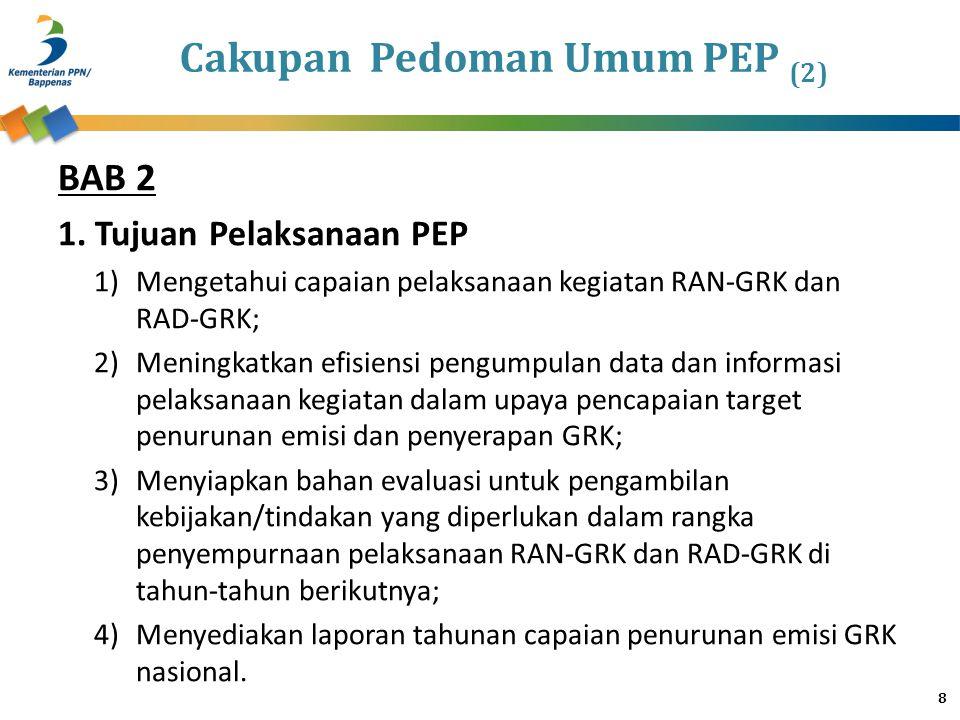 Cakupan Pedoman Umum PEP (2)